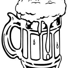 drawing glass beer coloring pages place color
