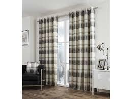 Slate Grey Curtains Balmoral Check Eyelet Slate Curtains And Cushions