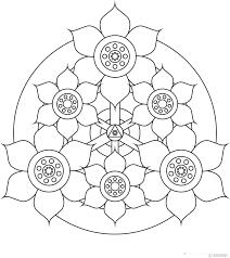 Simple Mandala Flower Coloring Pages Printable In Humorous Page Mandala Flowers Coloring Pages
