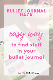 bullet journal hack how to find stuff in your bullet journal