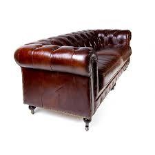 canap chesterfield 3 places canapé 2 3 places chesterfield cuir marron vintage classique à roulettes