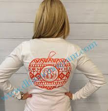 thanksgiving t shirt ideas aztec pumpkin monogrammed long sleeve t shirt thanksgiving