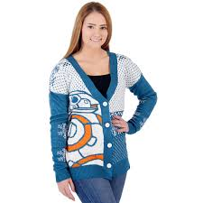 sweater wars s wars bb8 droid cardigan sweater