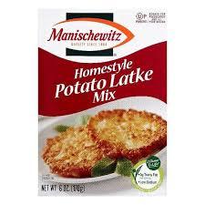 manischewitz latke mix manischewitz homestyle potato latke mix 6 oz pack of 6 shop