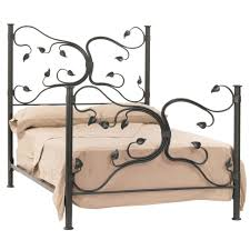 black polished hollow iron queen bed frame which furnished with