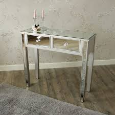 mirrored console vanity table the angelina range mirrored dressing table melody maison