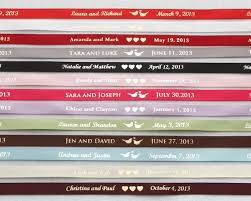personalized ribbon for wedding favors 19 best personalised ribbons images on satin ribbons