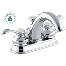 Kohler Faucets Bathroom Sink by Kohler Fairfax 4 In Centerset 2 Handle Water Saving Bathroom