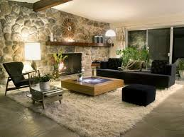 Stone Wall Living Room by Interior Modern Interior In Living Room Design With Stone Wall