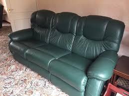 lazy boy green leather reclining sofa in norwich norfolk gumtree
