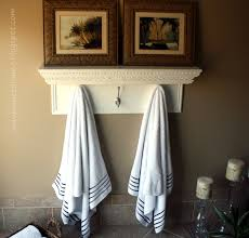 Towel Decoration For Bathroom by Towel Rack Ideas