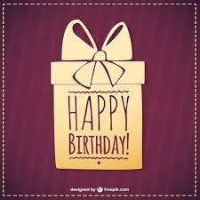 happy birthday simple design happy birthday present vector simple graphics vector free vector