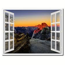 Yosemite Home Decor Wall Art Half Dome At Sunset Yosemite Picture Window Wall Art Home Decor