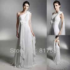turmec one shoulder greek goddess wedding dress