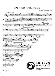 arnold op 102 for tuba solos unaccompanied