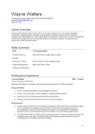 Technical Writing Resume Sample by Pct Resume Resume Cv Cover Letter