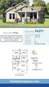 76 best craftsman house plans images on pinterest craftsman craftsman house plan 94371 total living area 1 064 sq ft 3 bedrooms and