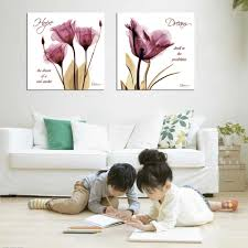 3 piece abstract modern wall painting purple dandelion home