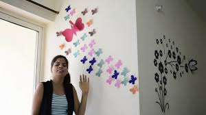 diy how make beautiful wall decoration with batterflies diy how make beautiful wall decoration with batterflies