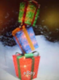 52 lighted presents stack gift boxes pre lit yard