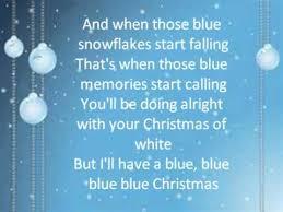 blue christmas blue christmas lyrics glee cast