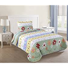 Twin Size Bed For Girls Amazon Com Marcielo 2 Piece Kids Bedspread Quilts Set Throw
