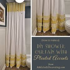 Shower Curtain And Valance 25 Diy Shower Curtain Tutorials Domestic Imperfection