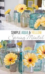 best 25 yellow kitchen accents ideas on pinterest diy yellow simple aqua yellow spring mantel