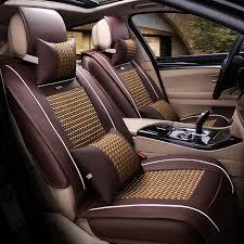 housse de siege en cuir pour voiture dingdian 5 sièges avant arrière housse de siège en cuir pour