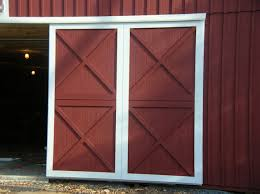 Sliding Horse Barn Doors by Post Frame Building Door Options Conestoga Buildings