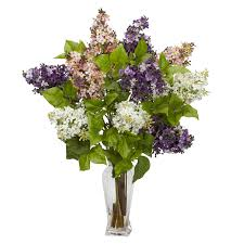 Flower Decorations For Home by Interior U0026 Decoration Lilac Silk Flower Arrangement And