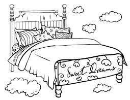 bed clipart coloring pencil and in color bed clipart coloring