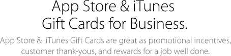gift cards for business itunes itunes gifts for business apple