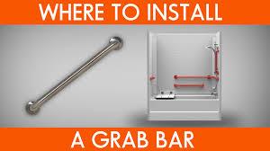 Grab Bars For Bathtubs Where To Install Grab Bars Youtube