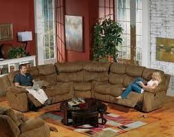 Curved Sectional Sofa With Recliner by Brown Fabric Frisco Modern Sectional Sofa W Optional Recliner