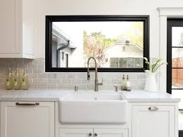 kitchen sink window ideas creative kitchen window treatments hgtv pictures ideas hgtv