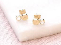 images of stud earrings personalised gemstone stud earrings