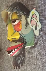 Halloween Monster Faces by Vintage Paper Cutout 3d Mask Halloween Monster Zombie Quick Faces