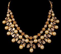 diamonds necklace photos images Polki diamonds necklace with south sea pearls jewellery designs jpg