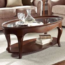 glass top oval coffee table perfect on modern and with to display