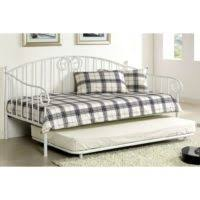 furniture white leather daybeds with trundle having grey bed