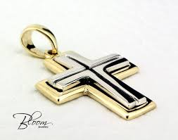 man gold cross necklace images Solid gold cross necklace 14k pendant for in necklaces men awwake me jpg