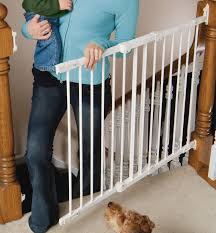 Baby Gate For Top Of Stairs With Banister And Wall Angle Mount Safeway