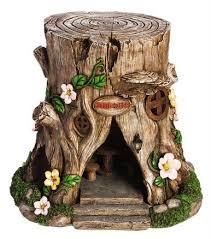 solar lighted tree stump house houses tree stump