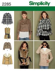 cute jacket pattern simplicity 2285 really cute short jacket with details on