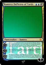 Mtg Card Design Card Idea Ramirez Depietro Of Tartis Magic The Gathering Card