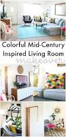 colorful mid century glam living room makeover living rooms