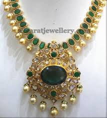 emerald pearl necklace images Emerald necklace with south pearls ruby necklace jewellery jpg