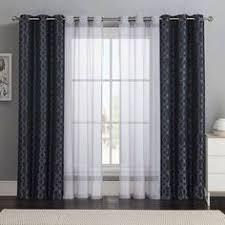 curtains for living room windows kendra sheer trellis pole pocket drape 50 x 84 blue layered