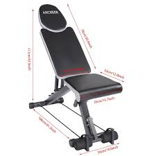 marcy ab bench amazon com ancheer adjustable weight bench sit up abdominal